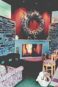 The fireplace in the Great Room is a cozy place to warm up after a day on the mountain.